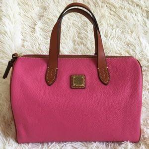 Dooney & Bourke Olivia Satchel in Hot Pink
